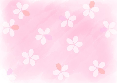 Watercolor Flower background Pink 2
