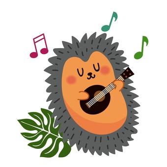 Ukulele playing hedgehog