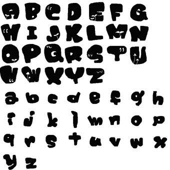 Alphabet black illustration