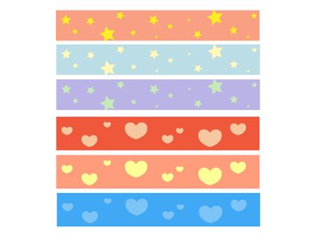 Star and heart ribbon