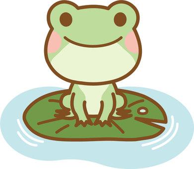 Frog on lotus