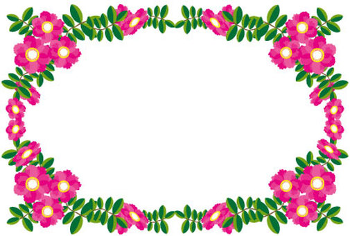 Southernka Sayaka Flower frame with pink flowers
