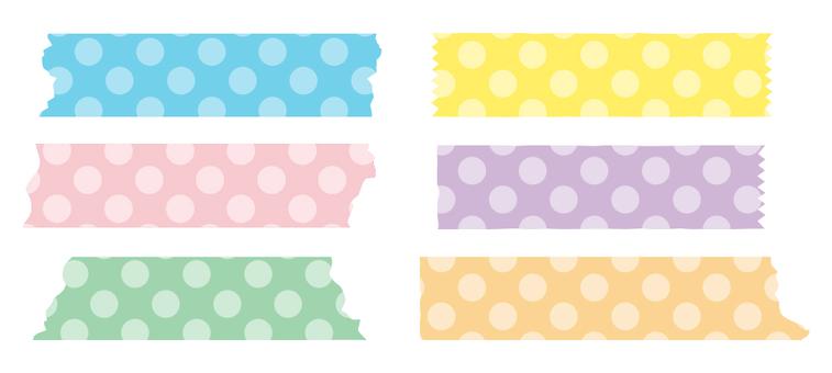 Masking tape dot large