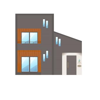 A detached house illustration 10