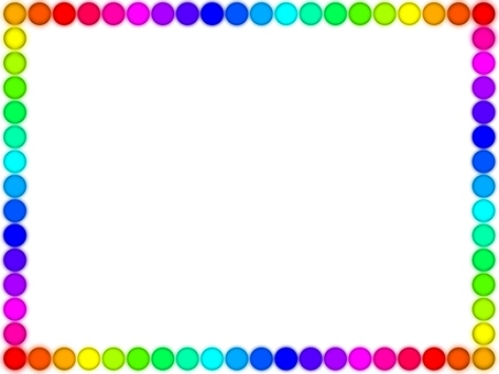 Colorful dot frame