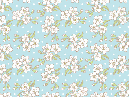 Spring cherry tile pattern (repeat) C02