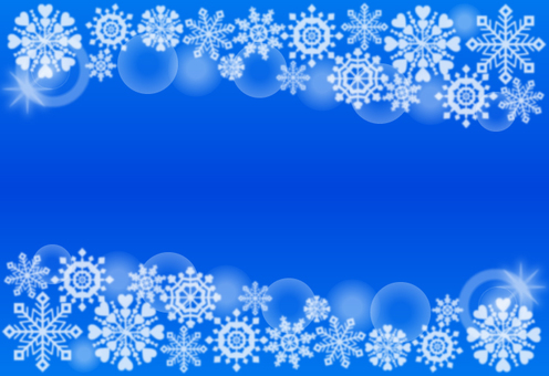 Snow crystal · background (blue)