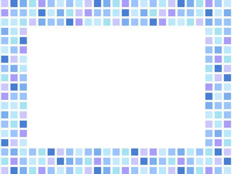 Blue series mosaic tile frame