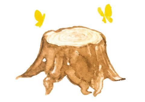 """Watercolor style"" stump"