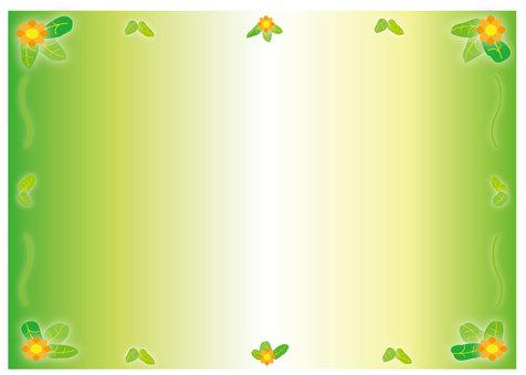 녹색 배경 (잎 · 꽃)