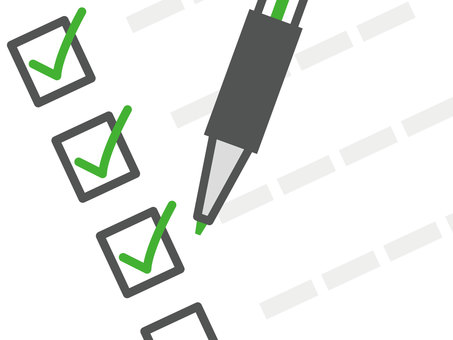 Checklist _ blue ballpoint pen