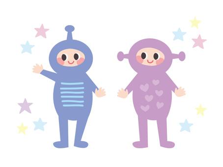 Space suit person