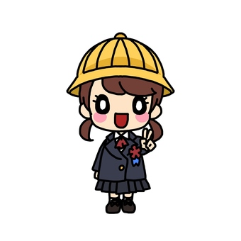 Elementary school entrance ceremony (girls)
