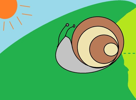 Snail that eats cabbage