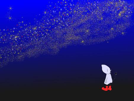 デビちゃん星を眺める