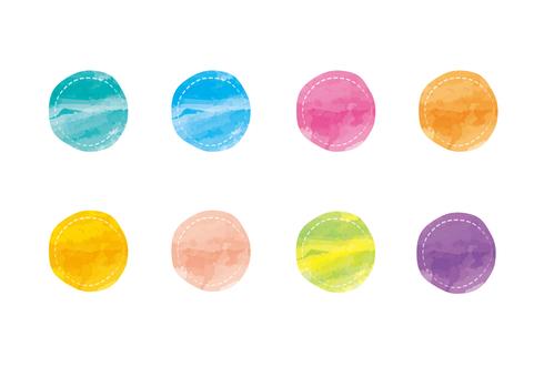 Watercolor _ stitch circle