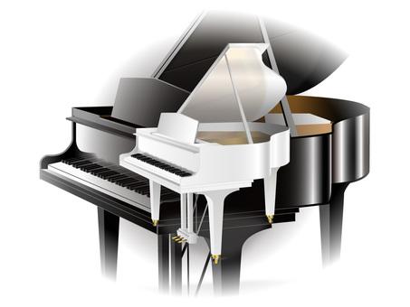 Piano white and black