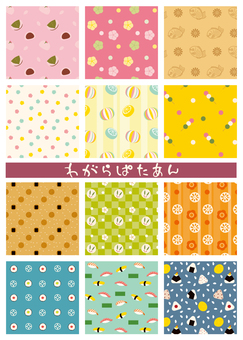 Japanese confectionery pattern