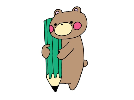 Pencil and bear 2 2