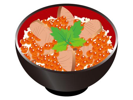 Harako rice with salmon roe