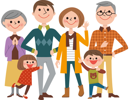 6 people family body (autumn clothes)