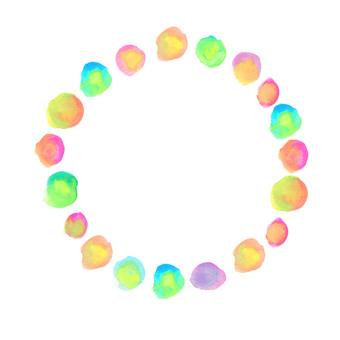 Watercolor circular frame