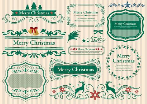 设置材料013圣诞框架