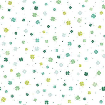 Seamless four leaf clover pattern