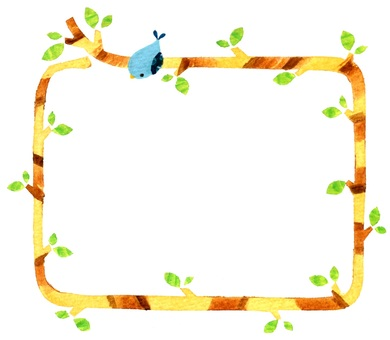 Tree and blue bird frame