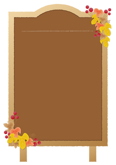 Menu board _ autumn_ brown