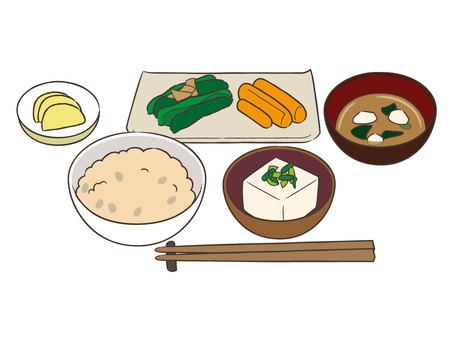 Unusual rice set meal