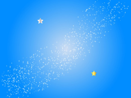 Tanabata Milky Way and two stars