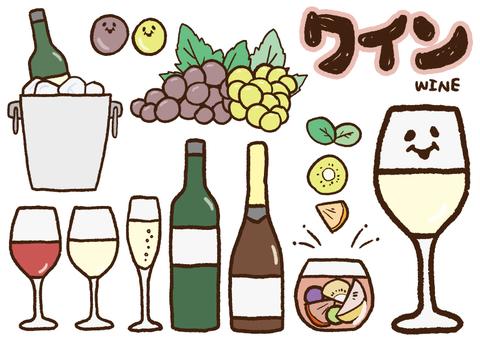 クレヨン_ワイン