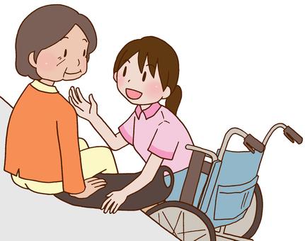 【Rehabilitation】 Transfer movement, wheelchair, at home
