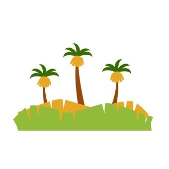 Scenery with palm trees