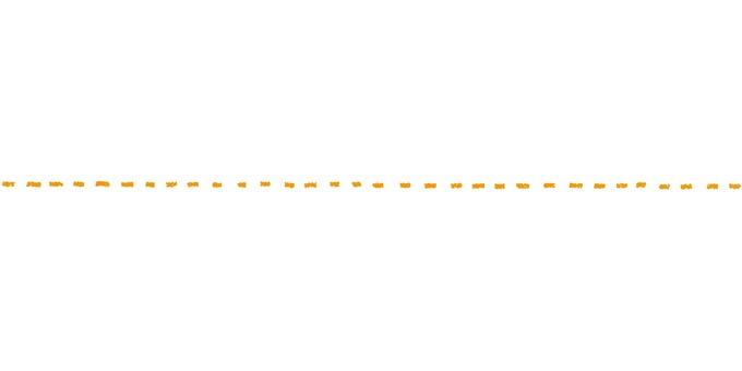 点線_手描き_黄色