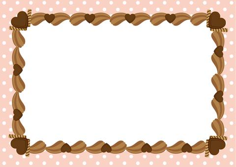 Chocolate cream frame square