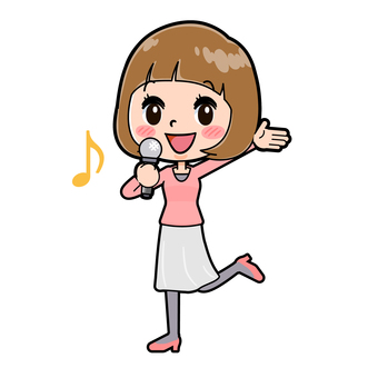 Young woman in pink clothes song appeal