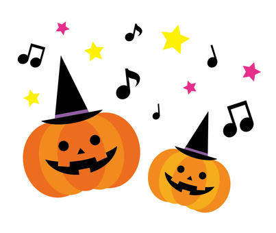 Pumpkin singing Halloween (two people)
