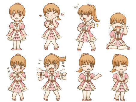 Sweet Lolita Girl Mini Characters