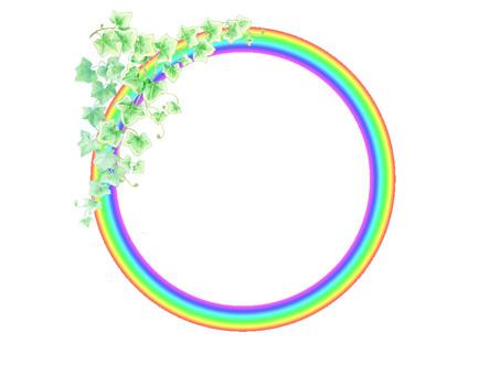 Rainbow ring (rainbow and ivy) ★ 0062-N