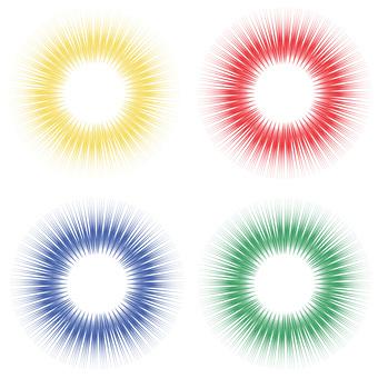Effect line (4 colors)
