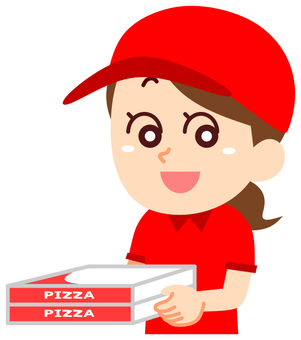 Delivery delivery pizza delivery woman