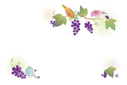 Grapes and birds