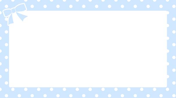 도트 프레임 - 하늘색