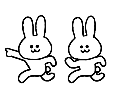 Rabbit to guide the route (animal simple)
