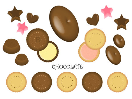 Chocolate and biscuit