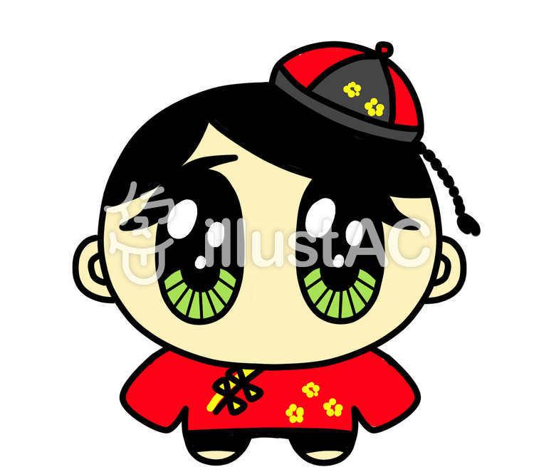 かわいい中国人 男の子 赤イラスト No 1235894無料イラストなら