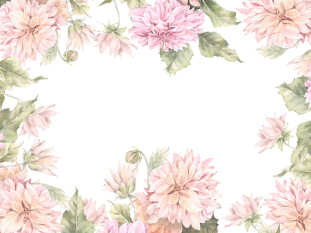 Large dahlia flower frame - frame