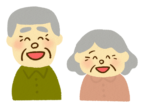 Elderly people with a smile